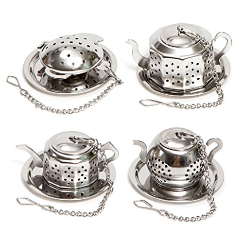 Find Bargain HULLR Stainless Steel Tea Infuser Gift Set, Tea Strainer & Steeper Bundle. (Mini Tea Ke...