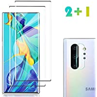 [2 Pack] Galaxy Note 10 Plus Screen Protector Tempered Glass Include a Camera Lens Protector,[Solution for Ultrasonic Fingerprint]Tempered Glass Screen Protector Suitable for Galaxy Note 10 Plus