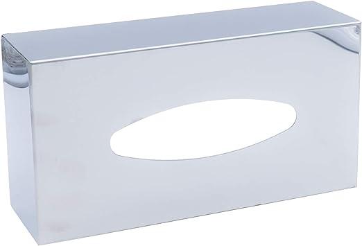 Ridder Caja para pañuelos de Papel Classic, de Acero Inoxidable, Cromo Mate, Aprox. 26 x 13,5 x 7,8 cm, Acero Inoxidable, Brillante, ca. 26 x 13,5 x 7,8 cm: Amazon.es ...
