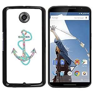 Be Good Phone Accessory // Dura Cáscara cubierta Protectora Caso Carcasa Funda de Protección para Motorola NEXUS 6 / X / Moto X Pro // Blue White Sailor Boat