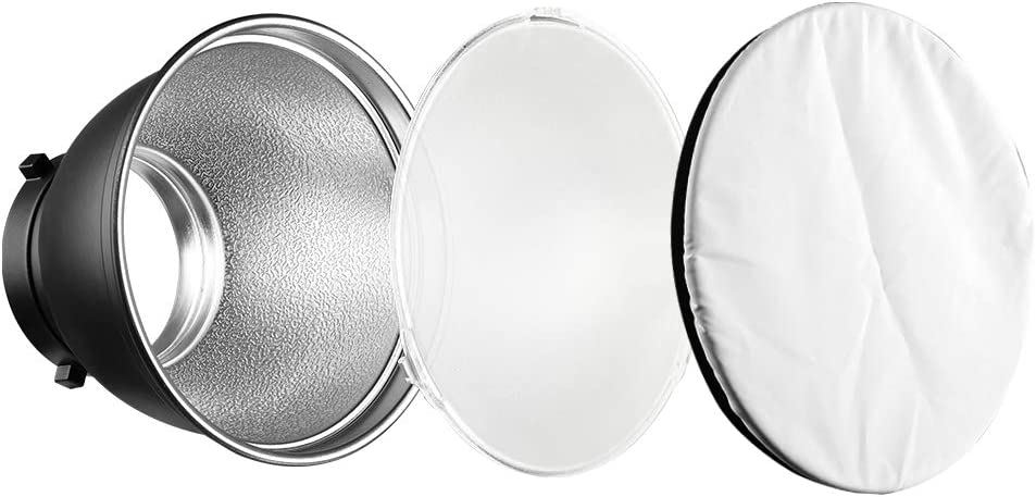 Soonpho 7 Standard Reflector Diffuser Lamp Shade Dish with White Soft Cloth for Bowens Mount Studio Strobe Flash Light Speedlite