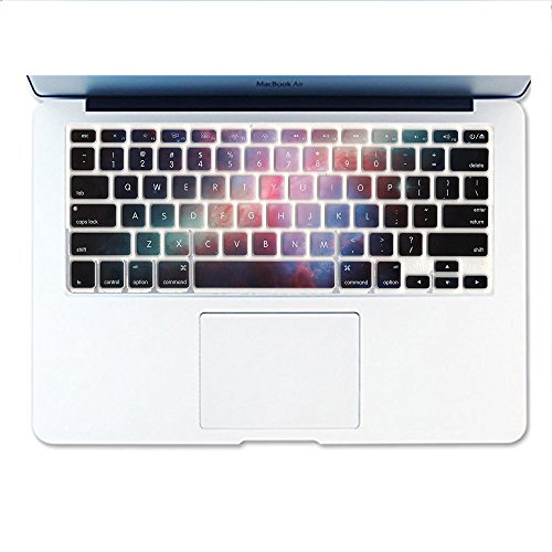 Dogxiong Rainbow Galaxy Night Pattern Texture Silicone Keyboard Cover Ultra Thin Keyboard Skin for MacBook Air 13 MacBook Pro with Retina Display 13 15 17