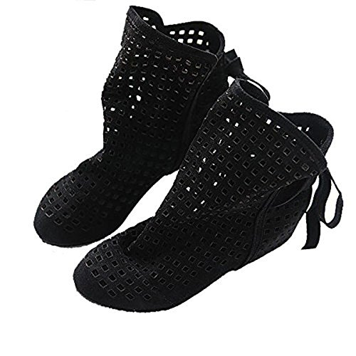 Dear Time Female Hollow Out Perforated Women Boots Ankle Boot Black 6TYDzk0