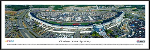 Speedway Nascar Picture - Charlotte Motor Speedway - Blakeway Panoramas NASCAR Posters with Standard Frame
