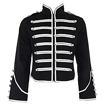 Banned Men&39s Black and Silver Military Jacket at Amazon Men&39s