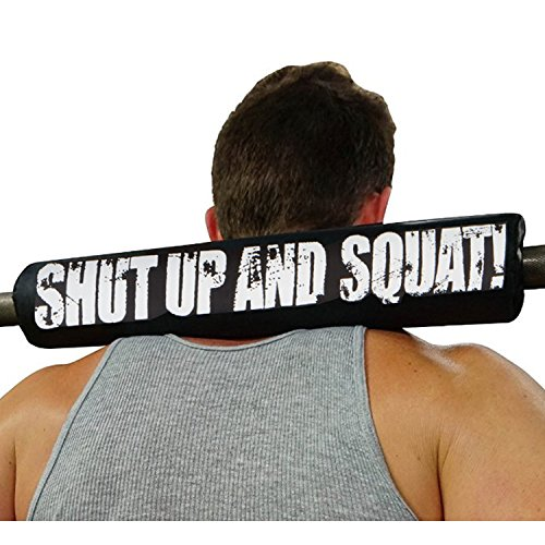 shut up and squat high density 17 inch long length barbells nek accessories fits smith machines used for bodybuilding weight-lifting training wod hip thrust exercise lunge calf raises cushions back (Bar Sale For Backs)
