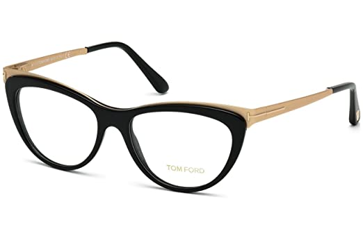 Amazon.com: Tom Ford – ft 5373, ojo de gato, acetato/metal ...