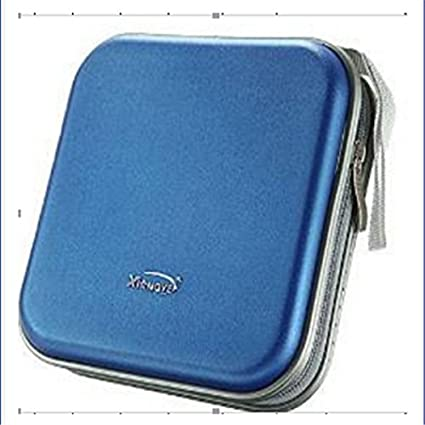 unicoco CD bolsa de almacenamiento funda de transporte portátil coche oficina de viaje azul azul 16
