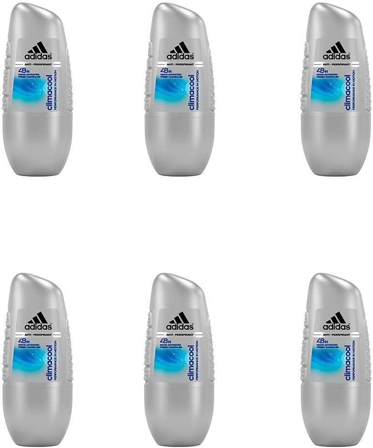 Adidas Climacool Anti-Perspirant Desodorante Roll-On Para Hombre 50 ml - Pack de 6