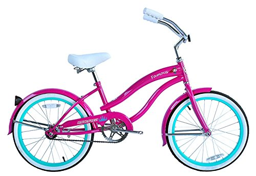 Micargi Famous for Girl Pink Beach Cruiser Bike Bicycle, 20 Wheel by Micargi B00BPGR5ZQ