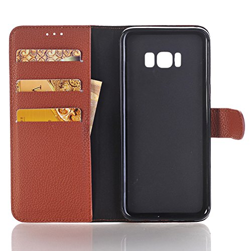 S8 Multi Wallet Leather PU Cards Color Money 2 Handbag for Plus 6 for Crossbody Bag Galaxy Plus Poacket Envelope Shiny with Cover elecfan Samsung S8 brown Chain Case Candy A01 Slots White inch amp; Lady 5wx70qtwI