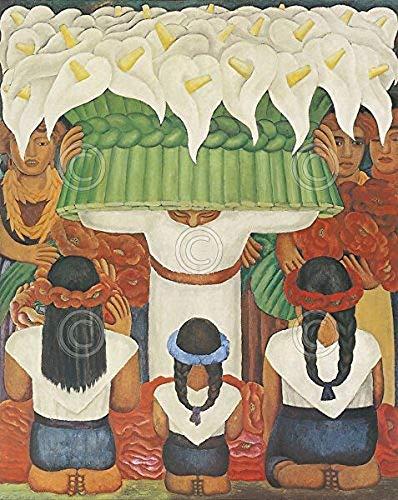 Flower Festival Feast of Santa Anita 1931 Diego Rivera Latino Cool Warm Colors Print Poster 11x14