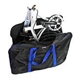VGEBY Bike Travel Cases Transport Carrying Bag with Saddle Bag for 14-20 inch Foldable Bicycle