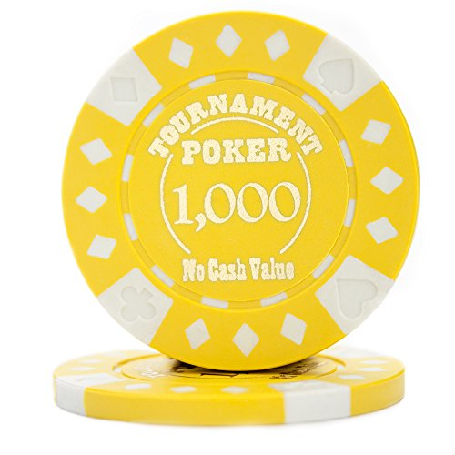 (Pack of 25 Professional Tournament Hot-Stamped 12.5 Gram Poker Chips (Yellow))