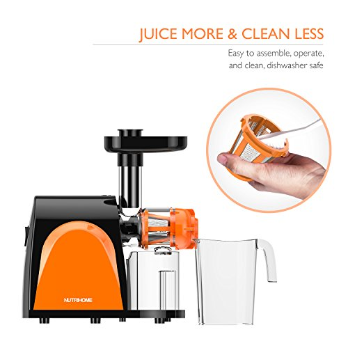 Slow Juicer In Kuwait : Masticating Juicer, Cold Press Juicer, Slow Juicer Machine with Juice Jug, Pulp Jug and Cleaning ...