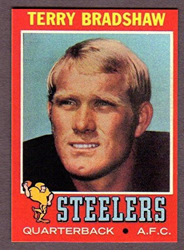 Terry Bradshaw 1971 Topps Football Rookie Reprint Card (Steelers)