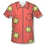 Glenn Quagmire Family Guy T-Shirt Costume TV Show Body Fox Red Flowers