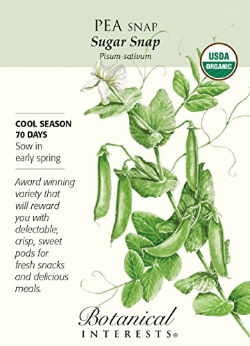 Organic Sugar Snap Pea Seeds - 18 grams - Botanical ()