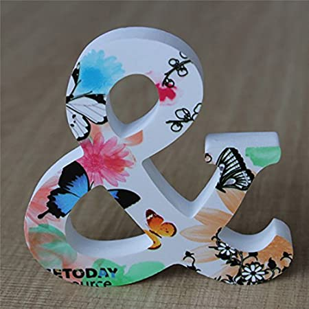 Takefuns Decorative Wood Letters Wall Hanging 26 Letters Wooden Alphabet Wall Letter for Children Baby Name Girls Bedroom Wedding Brithday Party Home Decor Letter P