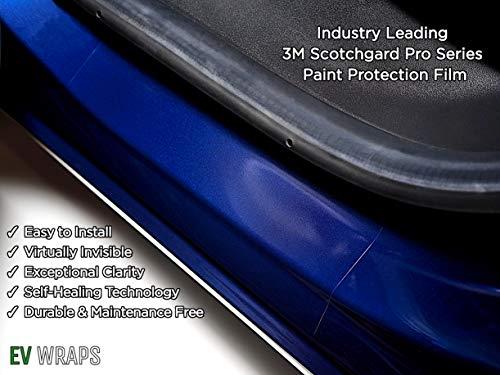(EV Wraps Tesla Model 3 Rear Door Sill Protector - Clear)