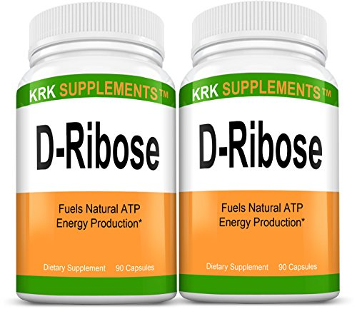 Cheap 2 Bottles D-Ribose 1200mg Per Serving 180 Total Capsules Natural ATP Energy KRK Supplements