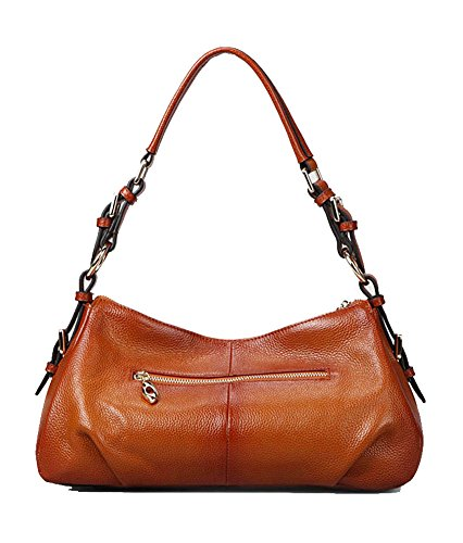 dd7c3b974e Kattee Ladies  Vintage Leather Hobo Shoulder Handbag Sorrel ...