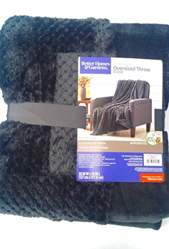 Dark Gray Velvet Plush Oversized Throw Blanket 50 Inches X 70 Inches from Better Homes and Gardens