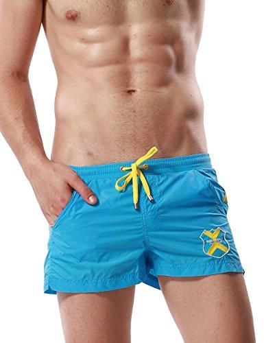 SEOBEAN Men's Gym Running Workout Shorts Lounge Underwear 9 Colors (M(28-30