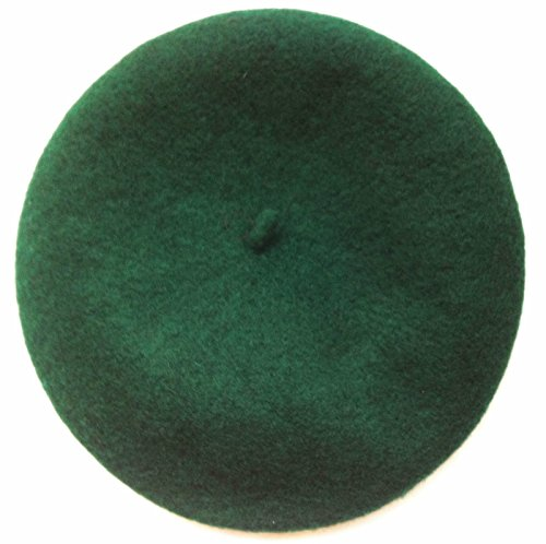 Amazing Kiss® NEW Women Lady Girls Chic warm Wool Mix French Artist Style Beret Beanie Hat Cap (Dark Green 05)