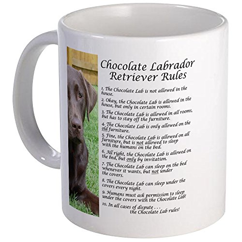 CafePress Chocolate Lab Rules Mug Unique Coffee Mug, Coffee - Chocolate Mug Lab