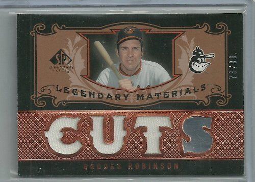 2007 SP Legendary Cuts Brooks Robinson Legendary Materials Triple Jersey Card