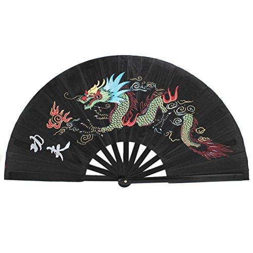c35ebaa2 Amazon.com: EbuyChX Plastic Chinese Kungfu Dragon Folding Sayawan Exercise Hand  Fan Black: Home & Kitchen