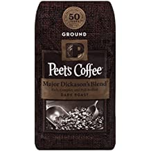 Peet's Coffee Major Dickason's Blend, Dark Roast, 12 oz, Rich, Smooth, and Complex Dark Roast Coffee Blend, with A Full Bodied and Layered Flavor