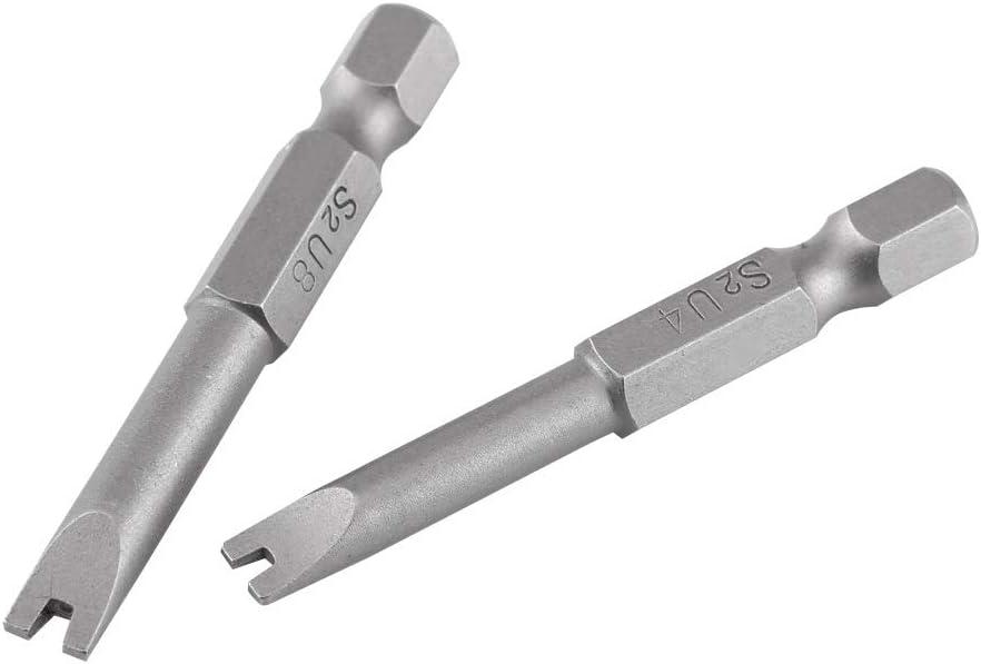 U-f/örmige Schraubendreher-Bits 5 St/ück S2 legierter Stahl 50 mm L/änge 1//4 Zoll Sechskantschaft Lange Magnetische Schraubendreher-Bits Set