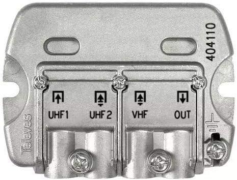 Televes 404110 - Mezclador mástil 3e/1s easyf vhf-uhf-dc ...