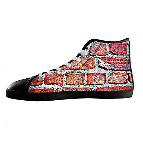 Scarpe Alto Women's Delle Custom Shoes Tetto I Del Canvas Mattoni Ginnastica Di Lacci Da Muro Struttura xnF6HqP