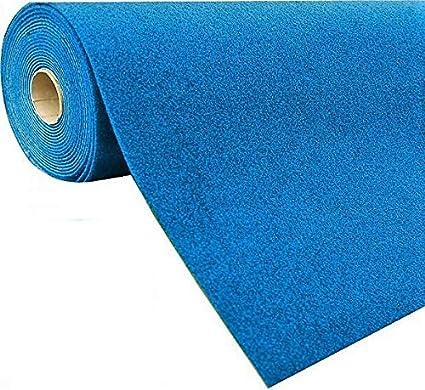 Meterware Gr/ö/ße:133 x 600 cm wasserdurchl/ässig Balkon Terrasse Camping Farbe:Blau Rot Blau Grau Braun Beige oder Anthrazit havatex Rasenteppich Kunstrasen mit Noppen 1.550 g//m/²