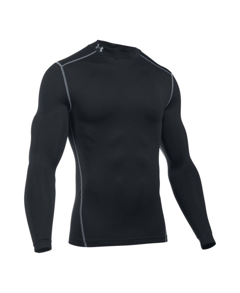Under Armour Men's ColdGear Armour Compression Mock Long Sleeve Shirt, Black (001)/Steel, XXX-Large by Under Armour (Image #4)