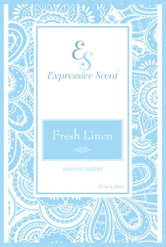 6 Pack Fresh Linen Large Scented Sachet Envelope By Expressive -