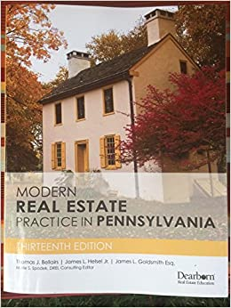 Modern Real Estate Practice in Pennsylvania, 13th Edition