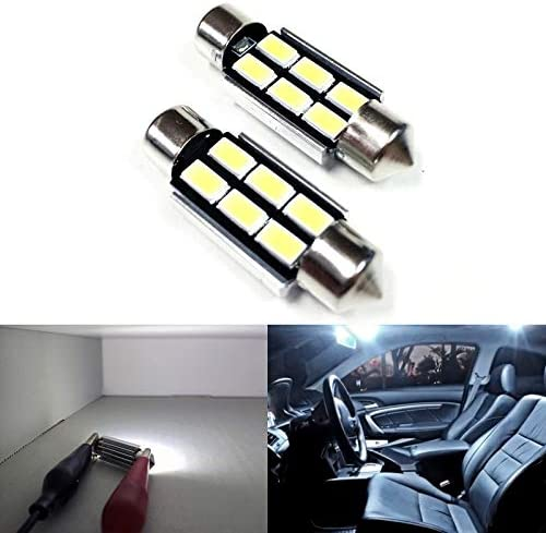 6X White 44mm Canbus Error Free 5730 SMD LED Interior Dome Lights Festoon Bulbs
