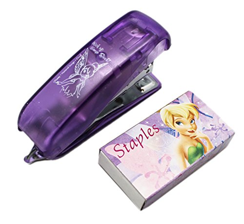 (Disney Fairies Tinker Bell Transparent Violet Colored Mini Stapler w/Staples)