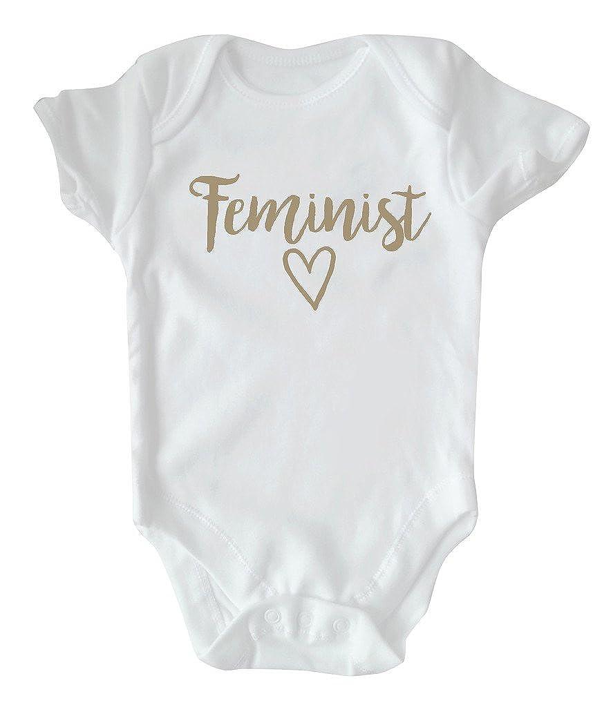 RPS White Slogan Baby Vest: Feminist