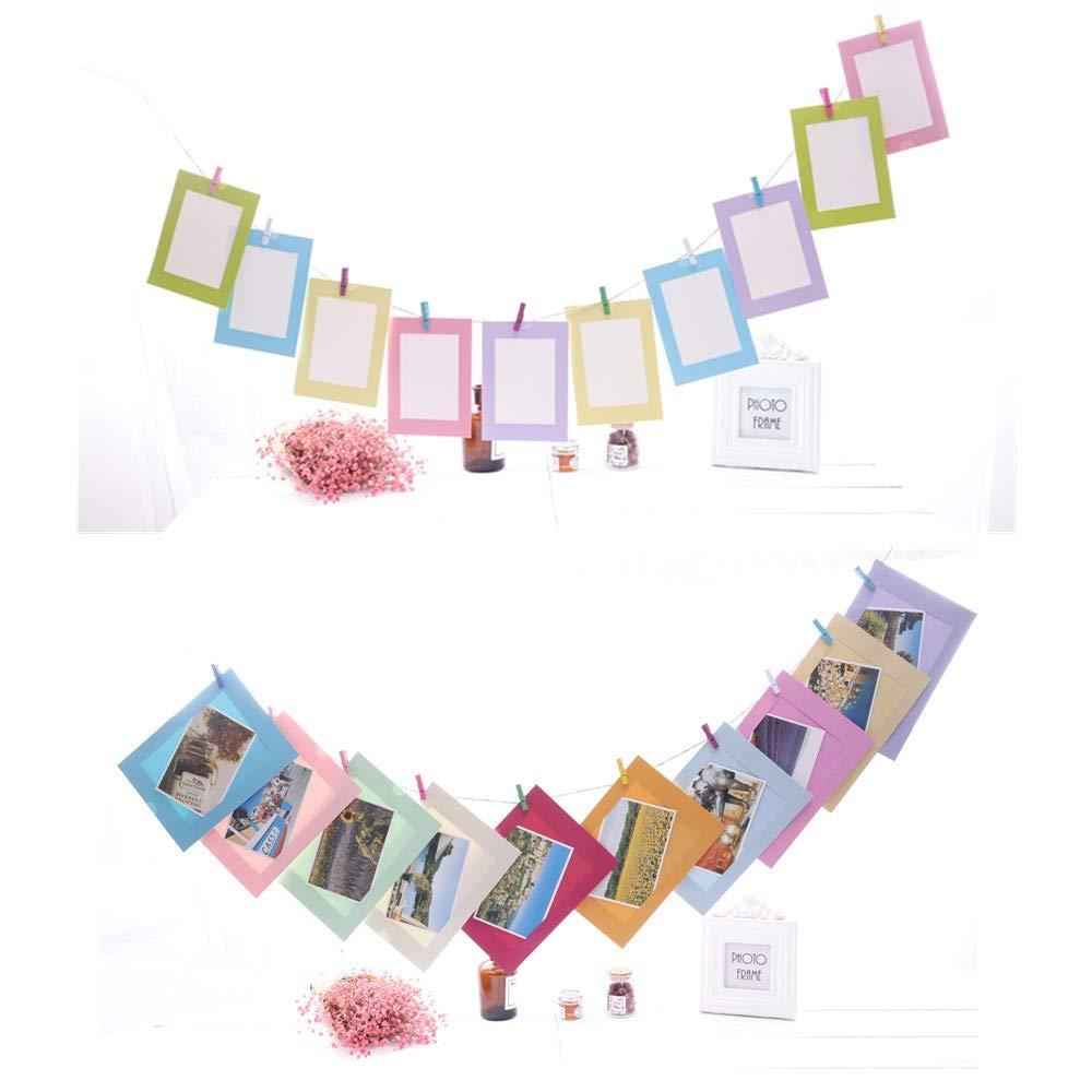 Papier Fotorahmen,Papierrahmen 20 stück Mehrfarbig Bilderrahmen mit ...