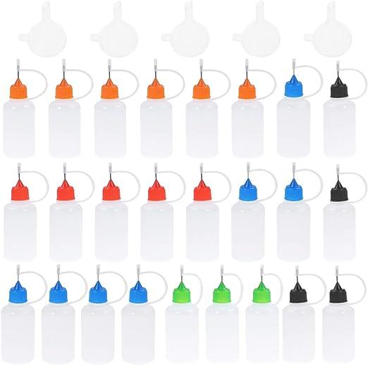 Healifty Juego de botellas con punta de aguja de 25 piezas 30 ml ...