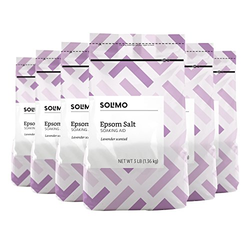 Amazon-Brand-Solimo-Epsom-Salt-Soaking-Aid-Lavender-Scented-3-Pound-Pack-of-6