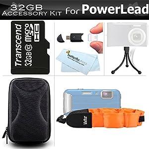 32GB Accessories Bundle Kit For PowerLead BP88, Gapo G051, Gapo G050 Double Screens Waterproof Digital Camera Includes 32GB High Speed Micro SD Memory Card + Case + FLOAT STRAP + Mini Tripod + More