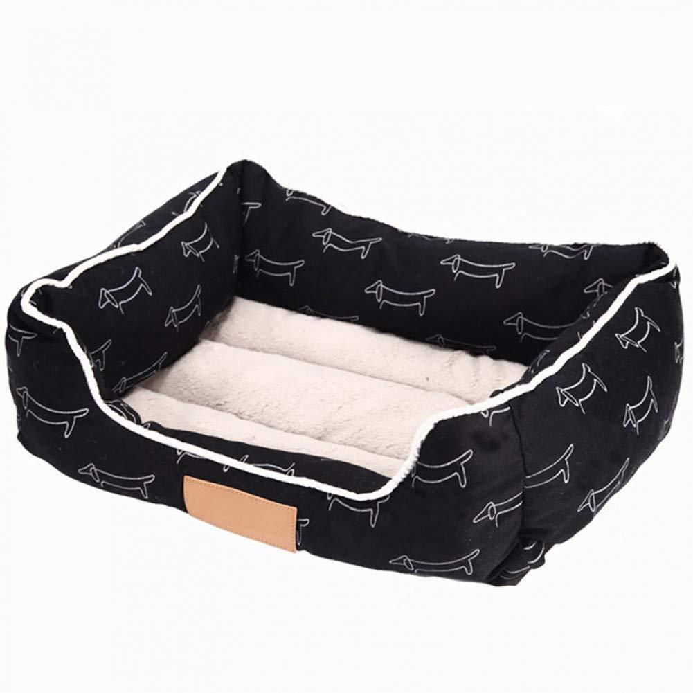 Cotton printed pet dog mattress comfortable autumn and winter puppy cat bed rectangular sofa bed small medium dog pet