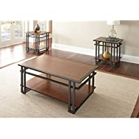 Steve Silver Company 3 Piece Micah Occasional Set, 48 x 28 x 19, Dark Oak Finish