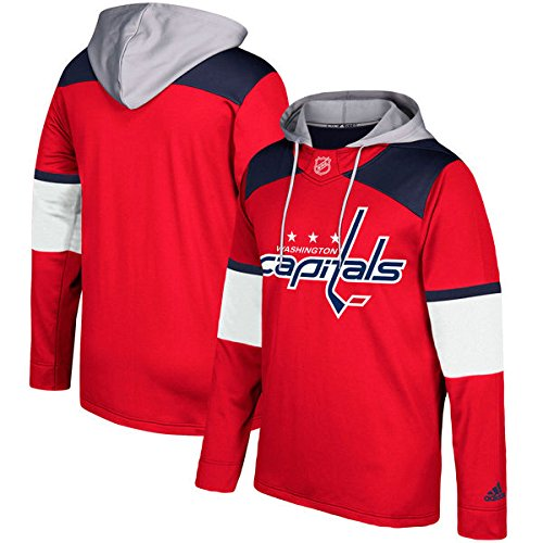 fan products of NHL Washington Capitals Mens Silver Jersey Hoodsilver Jersey Hood, Red, X-Large